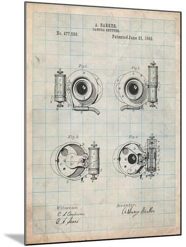 Asbury Frictionless Camera Shutter Patent-Cole Borders-Mounted Art Print