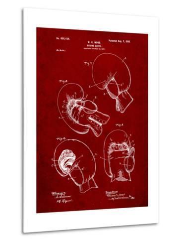 Boxing Glove Patent 1898-Cole Borders-Metal Print