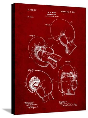 Boxing Glove Patent 1898-Cole Borders-Stretched Canvas Print