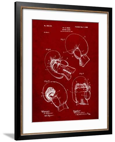 Boxing Glove Patent 1898-Cole Borders-Framed Art Print