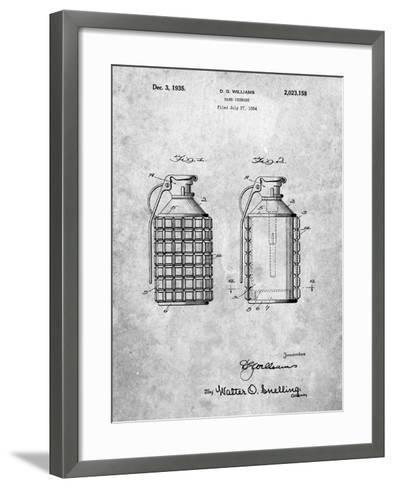 Hand Grenade Patent-Cole Borders-Framed Art Print