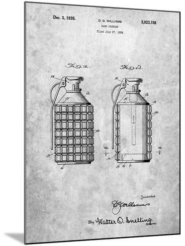 Hand Grenade Patent-Cole Borders-Mounted Art Print