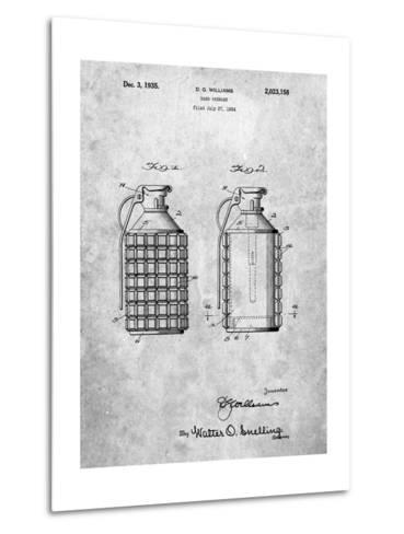 Hand Grenade Patent-Cole Borders-Metal Print