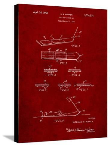 Early Snowboard Patent-Cole Borders-Stretched Canvas Print