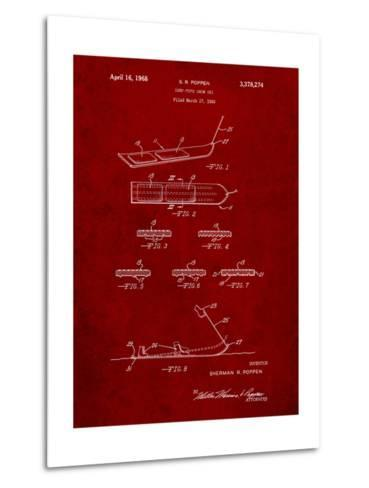 Early Snowboard Patent-Cole Borders-Metal Print