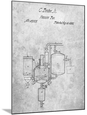 Milk Pasteurization Patent 1856-Cole Borders-Mounted Art Print