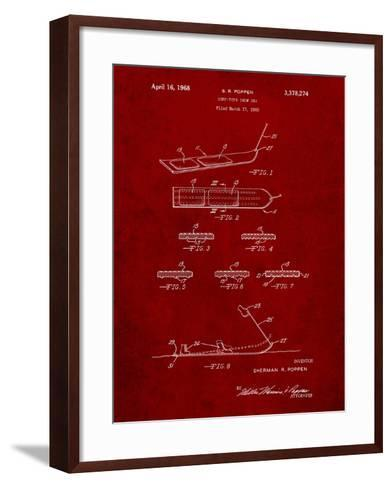 Early Snowboard Patent-Cole Borders-Framed Art Print
