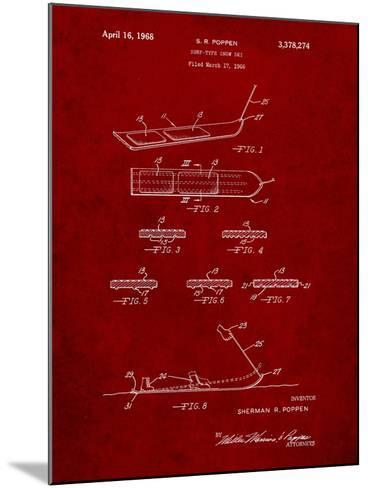 Early Snowboard Patent-Cole Borders-Mounted Art Print