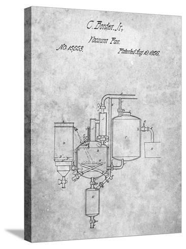 Milk Pasteurization Patent 1856-Cole Borders-Stretched Canvas Print