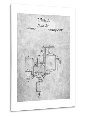 Milk Pasteurization Patent 1856-Cole Borders-Metal Print