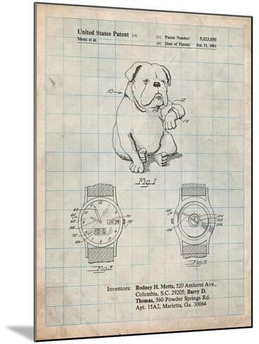 Dog Watch Clock Patent-Cole Borders-Mounted Art Print