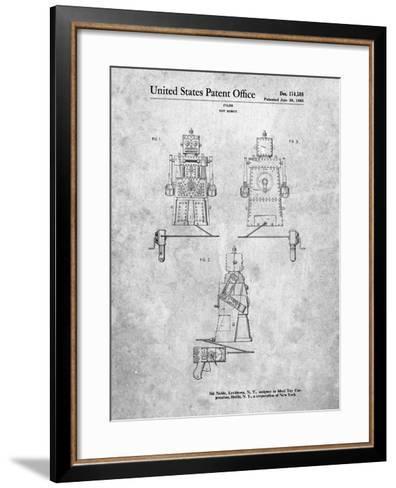 Robert the Robot 1955 Toy Robot Patent-Cole Borders-Framed Art Print