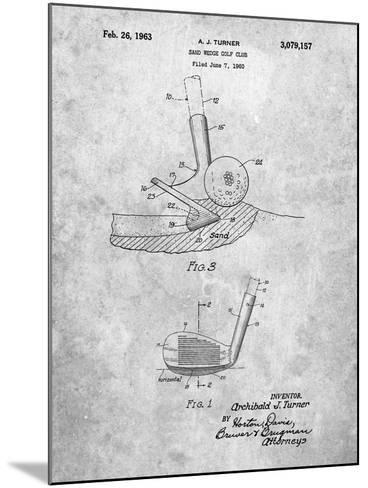 Golf Sand Wedge Patent-Cole Borders-Mounted Art Print