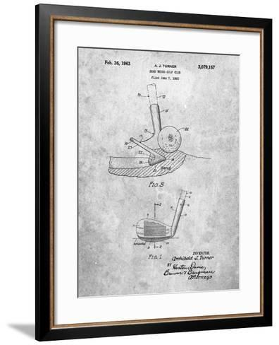 Golf Sand Wedge Patent-Cole Borders-Framed Art Print
