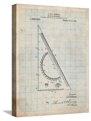 Drafting Triangle 1922 Patent-Cole Borders-Stretched Canvas Print