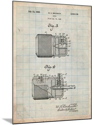 Drill Chuck 1943 Patent-Cole Borders-Mounted Art Print