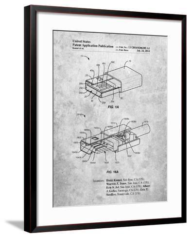 Reversible Usb Patent-Cole Borders-Framed Art Print