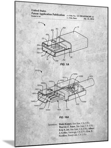 Reversible Usb Patent-Cole Borders-Mounted Art Print