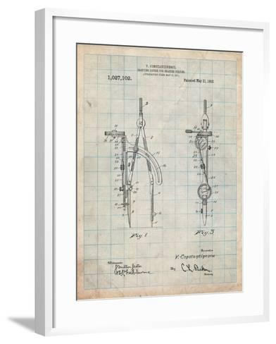 Drafting Compass 1912 Patent-Cole Borders-Framed Art Print