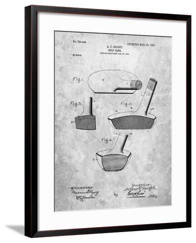 Golf Club Putter Patent-Cole Borders-Framed Art Print