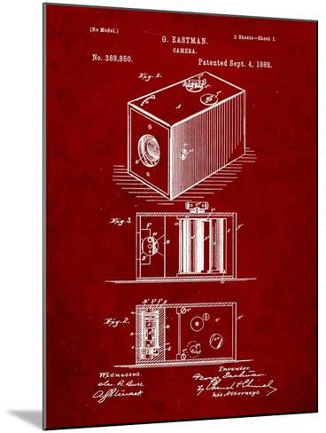 Eastman Vintage Camera Patent-Cole Borders-Mounted Art Print