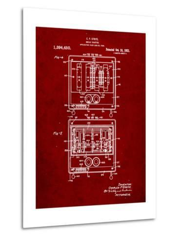 Bread Toaster Patent-Cole Borders-Metal Print