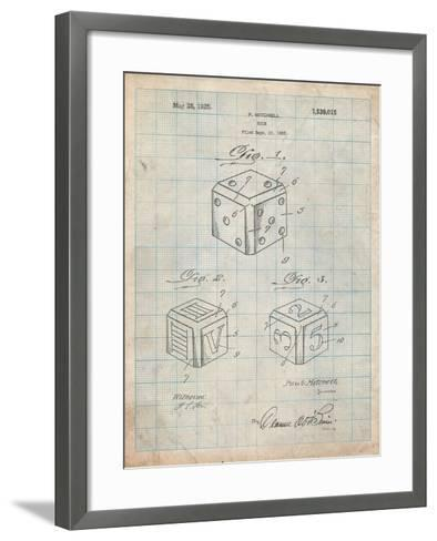 Dice 1923 Patent-Cole Borders-Framed Art Print
