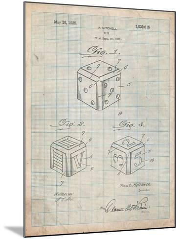 Dice 1923 Patent-Cole Borders-Mounted Art Print
