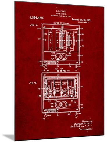 Bread Toaster Patent-Cole Borders-Mounted Art Print