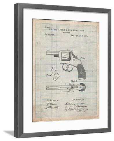 Revolving Firearm Patent-Cole Borders-Framed Art Print