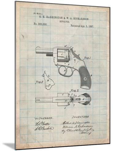 Revolving Firearm Patent-Cole Borders-Mounted Art Print