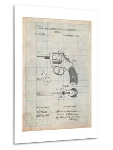 Revolving Firearm Patent-Cole Borders-Metal Print
