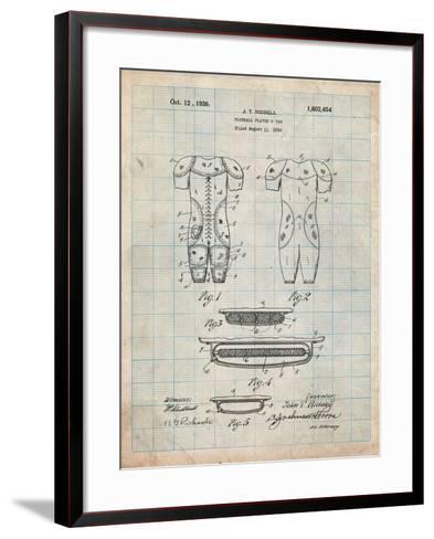 Football Pads Patent-Cole Borders-Framed Art Print