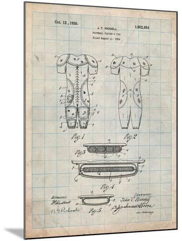 Football Pads Patent-Cole Borders-Mounted Art Print