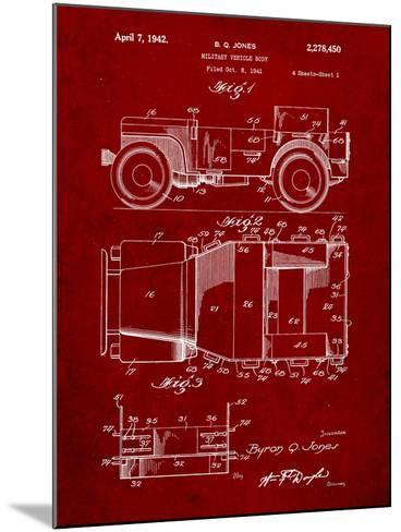 Willy's Jeep Patent-Cole Borders-Mounted Art Print