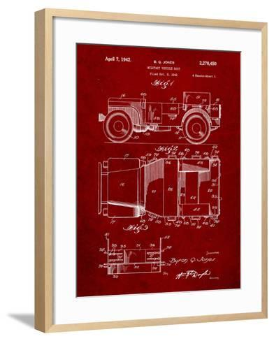 Willy's Jeep Patent-Cole Borders-Framed Art Print