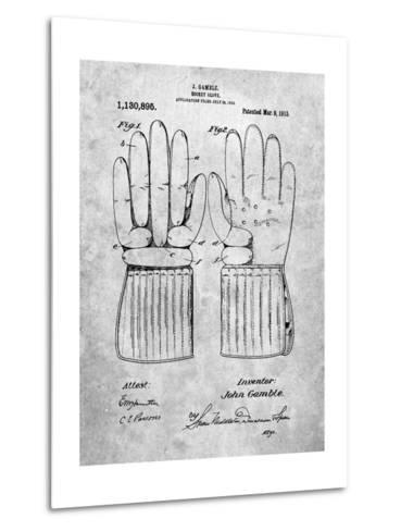 Hockey Glove Patent-Cole Borders-Metal Print