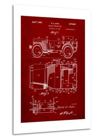 Willy's Jeep Patent-Cole Borders-Metal Print