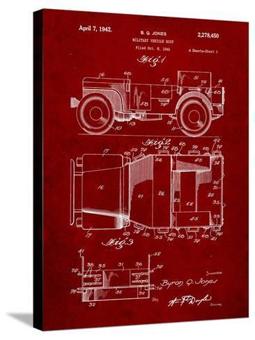 Willy's Jeep Patent-Cole Borders-Stretched Canvas Print