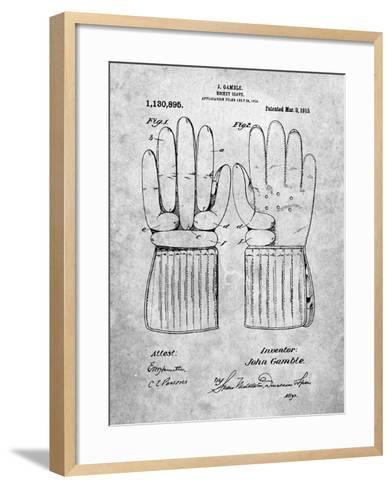 Hockey Glove Patent-Cole Borders-Framed Art Print