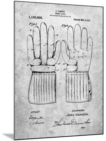 Hockey Glove Patent-Cole Borders-Mounted Art Print