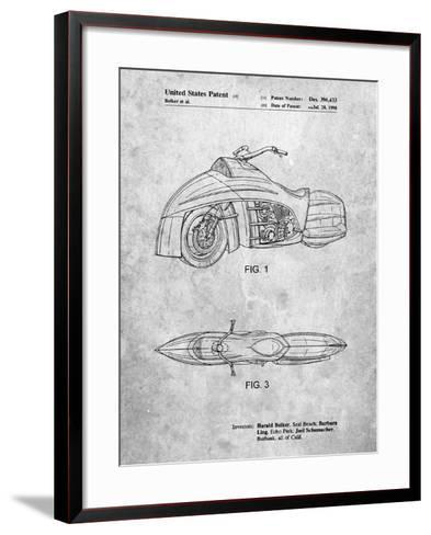 Robin Motorcycle Patent-Cole Borders-Framed Art Print