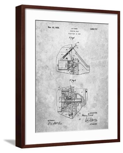 Ford Car Starter Patent-Cole Borders-Framed Art Print