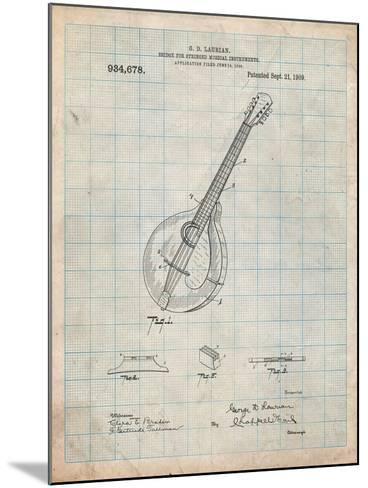 Gibson Mandolin Bridge Patent-Cole Borders-Mounted Art Print