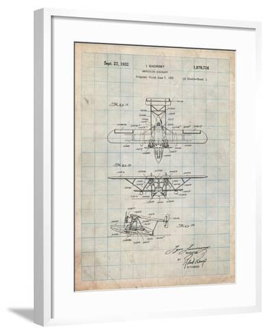 Sikorsky Amphibian Aircraft 1929 Patent-Cole Borders-Framed Art Print