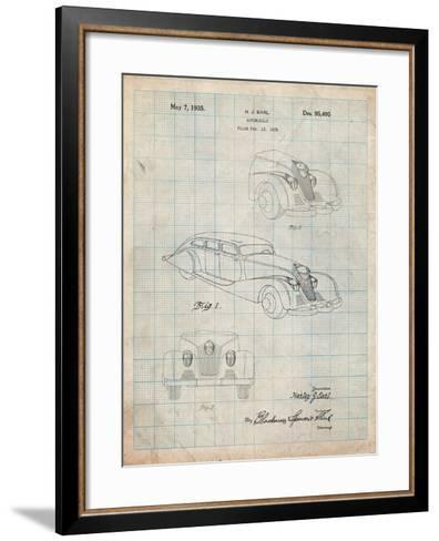 GM Cadillac Concept Design Patent-Cole Borders-Framed Art Print