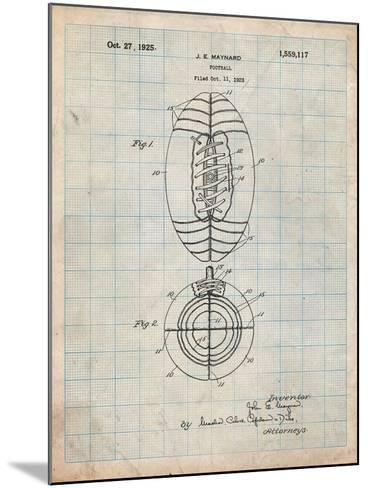 Football Patent 1923-Cole Borders-Mounted Art Print