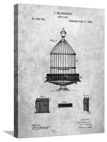 Vintage Birdcage Patent-Cole Borders-Stretched Canvas Print