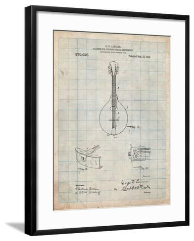 Gibson Mandolin Tailpiece Patent-Cole Borders-Framed Art Print