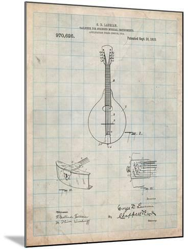 Gibson Mandolin Tailpiece Patent-Cole Borders-Mounted Art Print